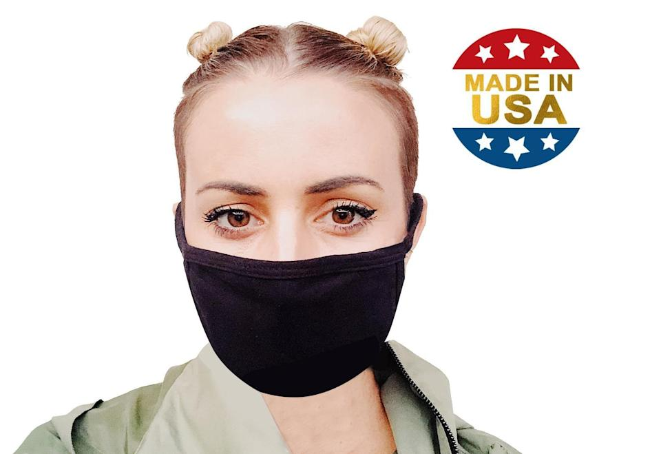 <p>This <span>2-Ply Soft Cotton Filter Pocket Mask</span> ($7) is a good one to have. It feels comfortable against your skin, which is always a good thing.</p>