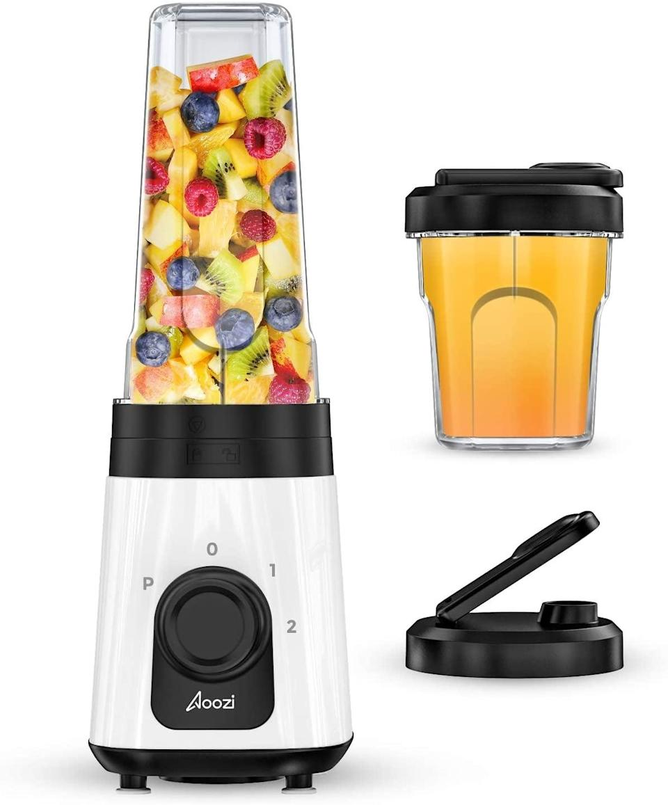 <p>Create yummy smoothies, shakes, and more with this <span>Personal Blender</span> ($19, originally $24).</p>