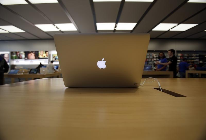 MacBook Air laptop is pictured on display at an Apple Store in Pasadena