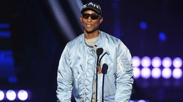 PHOTO:Pharrell Williams speaks on stage at the 2019 iHeartRadio Music Awards at the Microsoft Theater, March 14, 2019, in Los Angeles. (Kevin Winter/Getty Images, FILE)