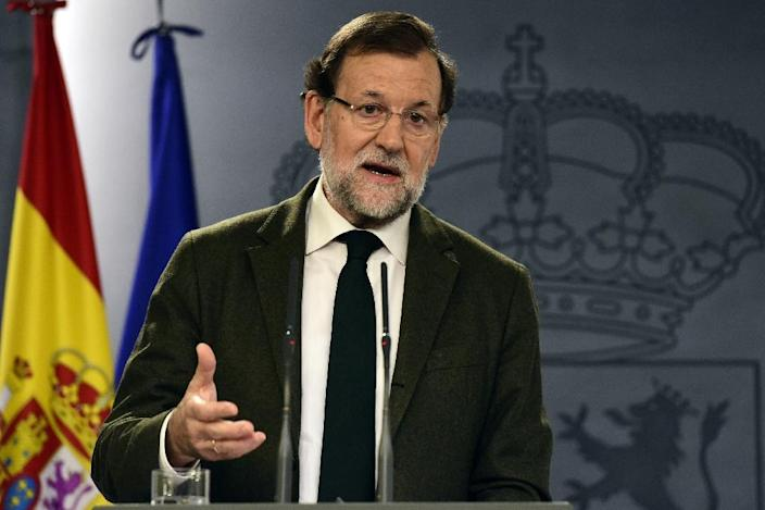 Spanish Prime Minister Mariano Rajoy has led efforts to forge a united political front against Catalan independence (AFP Photo/Javier Soriano)