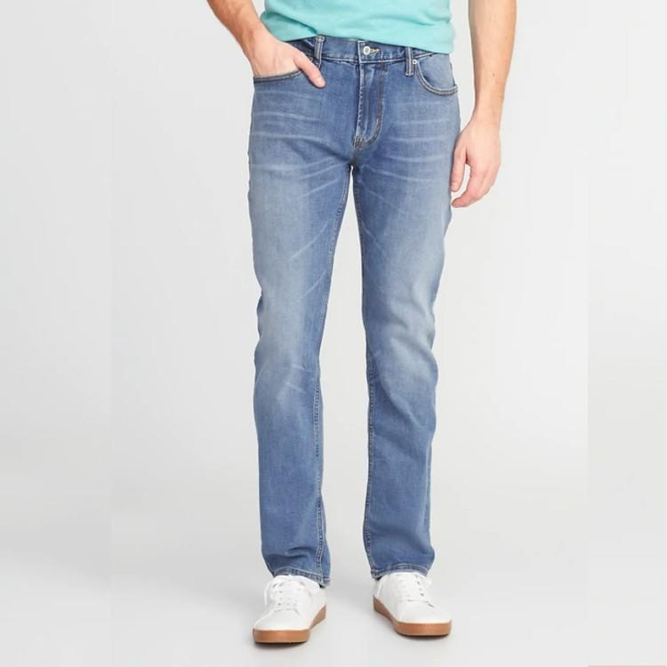 Slim Built-In Flex All-Temp Jeans For Men. (Photo: Old Navy)