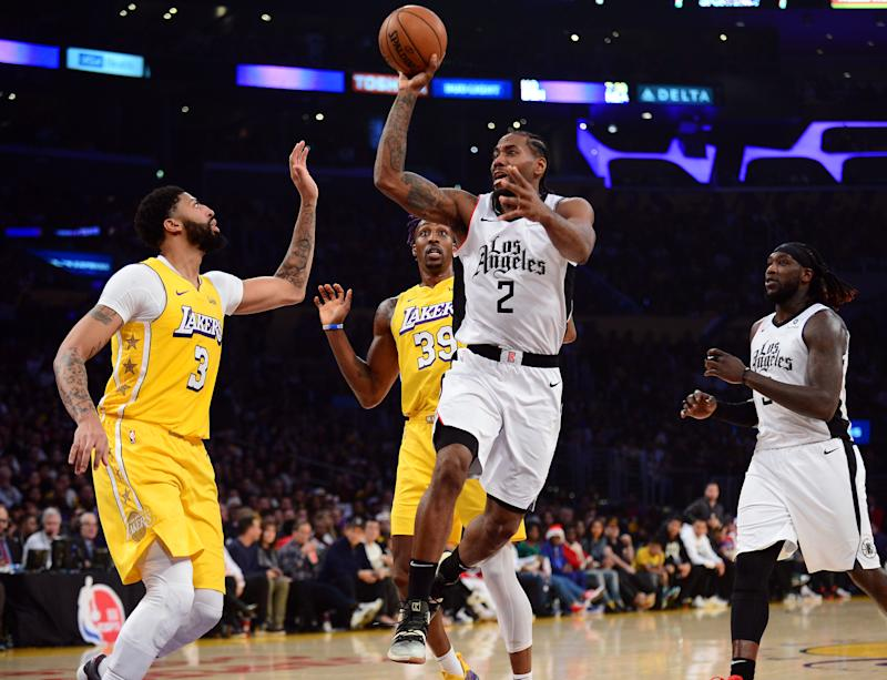 Twice, the Lakers threatened to run away with their Christmas day matchup with the Clippers. Kawhi Leonard had other ideas. (Gary A. Vasquez-USA Today Sports)