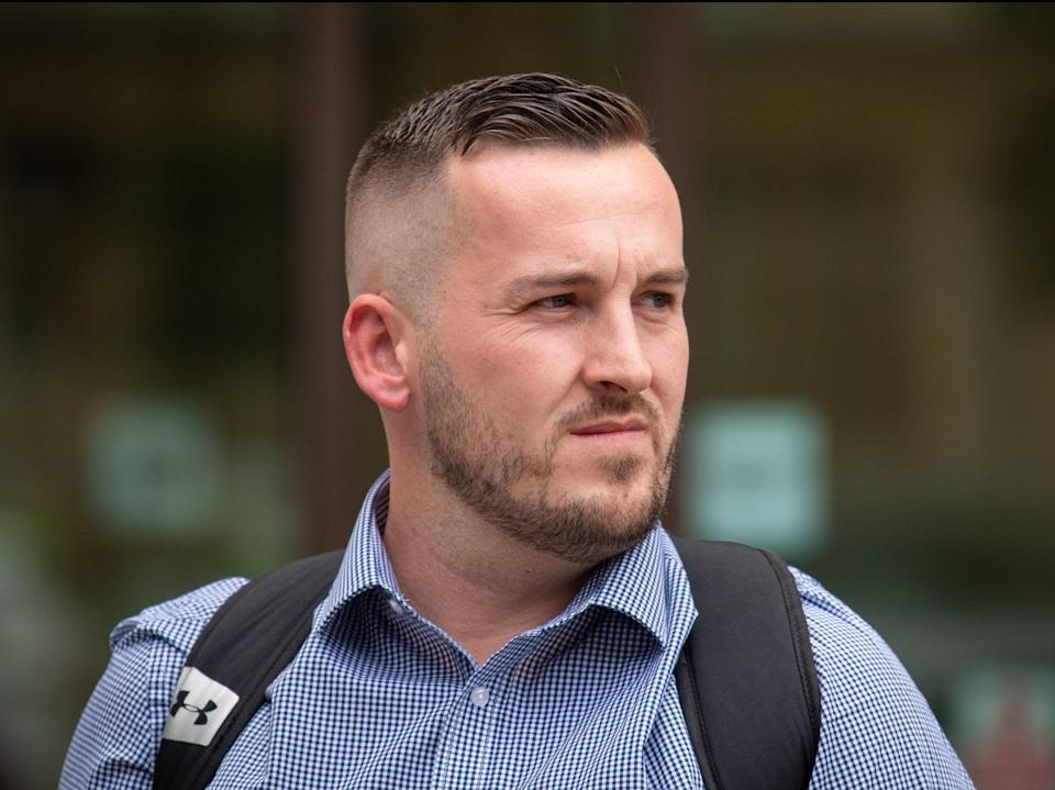 <p>James Goddard pictured outside Westminster Magistrates' Court in June 2019</p> (PA)