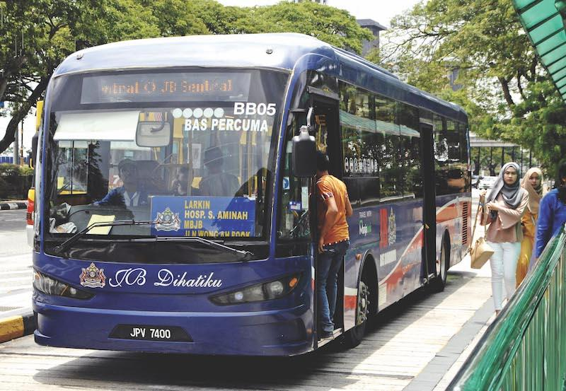 The free bus service was launched by the Johor Baru City Council in 2014. — Malay Mail pic