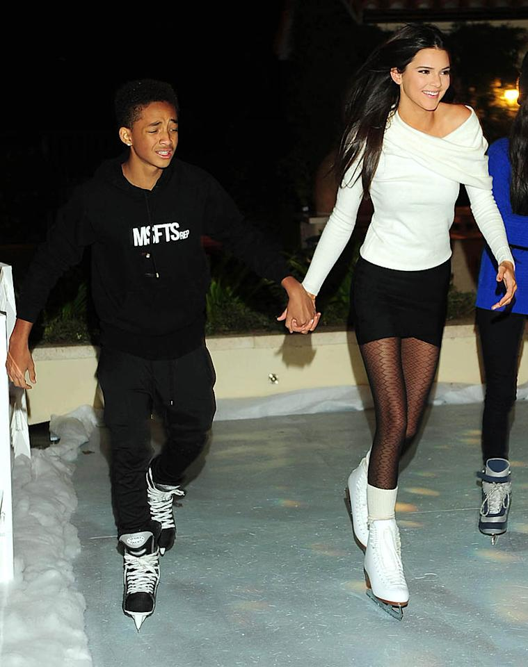 Exclusive-Los Angeles, CA - 11/11/2012 - Kendall Jenner celebrates her 17th birthday with a ice skating party in her families backyard.-PICTURED: Jaden Smith, Kendall Jenner-PHOTO by: Michael Simon/startraksphoto.com-MS98237Startraks PhotoNew York, NY For licensing please call 212-414-9464 or email sales@startraksphoto.com