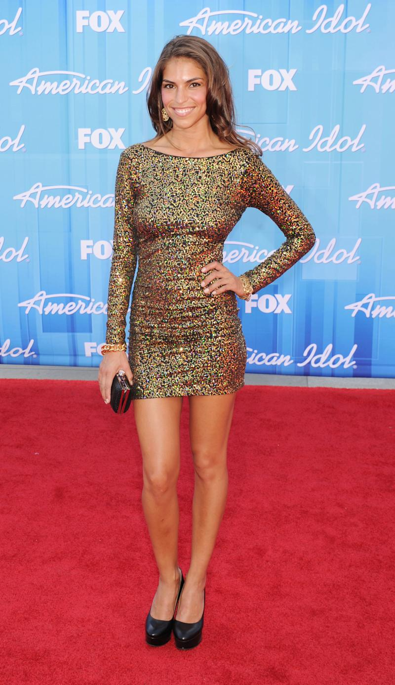 "LOS ANGELES, CA - MAY 23: Antonella Barba attends ""American Idol"" Season 11 Grand Finale Show at Nokia Theatre L.A. Live on May 23, 2012 in Los Angeles, California. (Photo by Jeffrey Mayer/WireImage)"