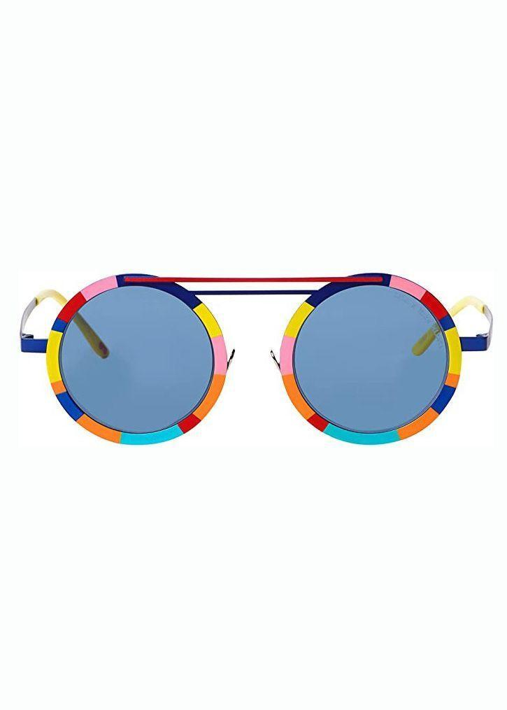 """<p><strong>Mira Mikati</strong></p><p>amazon.com</p><p><strong>$560.00</strong></p><p><a href=""""https://www.amazon.com/dp/B098BLX4X1?tag=syn-yahoo-20&ascsubtag=%5Bartid%7C10056.g.37145833%5Bsrc%7Cyahoo-us"""" rel=""""nofollow noopener"""" target=""""_blank"""" data-ylk=""""slk:Shop Now"""" class=""""link rapid-noclick-resp"""">Shop Now</a></p><p>Sunglasses are an essential, but don't mistake that for boring. Uneven blocks of color and a separated nose bridge makes this pair a sunny standout. </p>"""