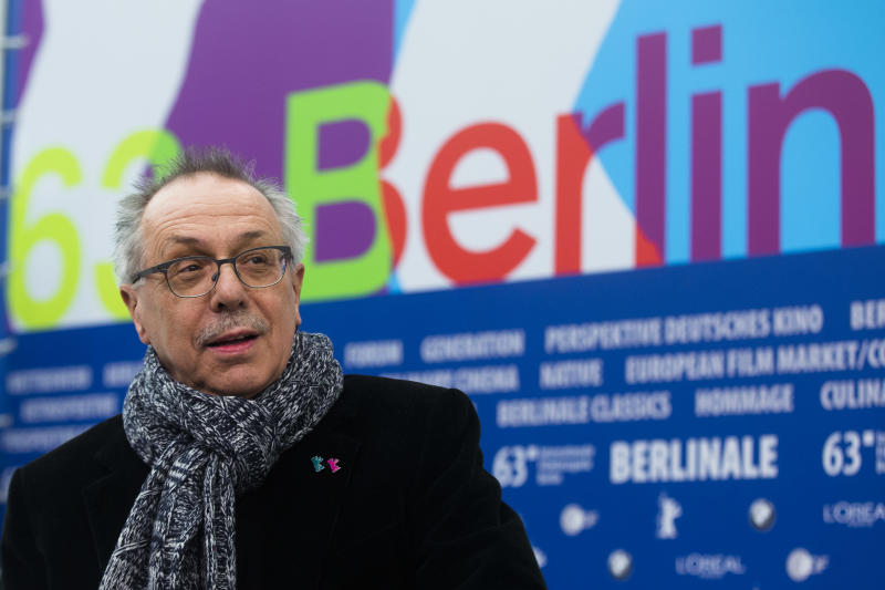CORRECTS TYPO IN BERLIN -Dieter Kosslick, director of the International Film Festival Berlin, the Berlinale, poses for the media prior to the annual program press conference in Berlin, Monday, Jan. 28, 2013. The 63. Berlinale festival will take place from Feb. 7, until Feb. 17, 2013 in Berlin.  (AP Photo/Markus Schreiber)