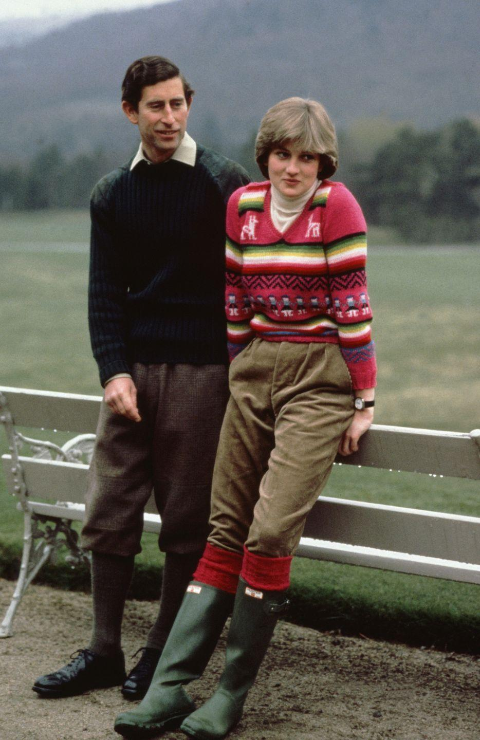 <p>Prince Charles and Lady Diana Spencer visit Balmoral and stay at Craigowan Lodge on the estate during their engagement.</p>