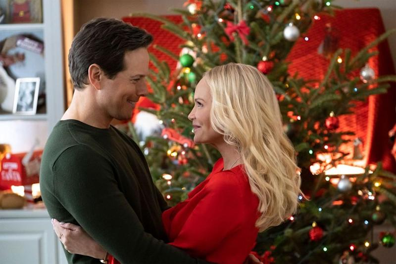 Scott Wolf and Kristin Chenoweth in Hallmark Channel's A Christmas Love Story. | Crown Media