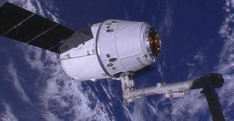 """<p>An unpiloted Dragon cargo vehicle <a href=""""https://twitter.com/NASA/status/897807522802749440"""" target=""""_blank"""">arrived</a> at the International Space Center (<span class=""""caps"""">ISS</span>) on August 16, bringing more than three tons of supplies and scientific materials.</p><p>The cargo ship launched on August 14 atop SpaceX's Falcon 9 rocket. It was met by Expedition 52 crewmembers Jack Fischer of <span class=""""caps"""">NASA</span> and Paolo Nespoli of the European Space Agency who operated the ISS's Canadarm2 robotic arm to capture the ship. Dragon will <a href=""""https://twitter.com/NASA/status/897809255167688705"""" target=""""_blank"""">spend about a month</a> attached to the Earth-facing port of the Harmony module. Credit: <span class=""""caps"""">NASA</span> via Storyful</p>"""
