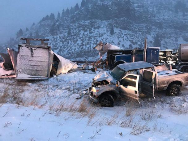 PHOTO: The scene of a fatal crash on I-70 in Eagle River, Colo., Nov. 26, 2019. (Eagle River Fire Protection District)