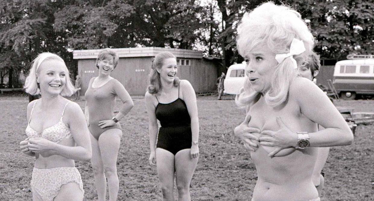 Barbara Windsor in Carry on Camping. (Photo by Crawshaw/Mirrorpix/Mirrorpix via Getty Images)