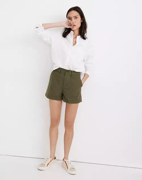 <p>We salute these <span>Madewell The Perfect Vintage Military Shorts</span> ($65) for being traditional khaki shorts made stylish in army green or golden brown.</p>
