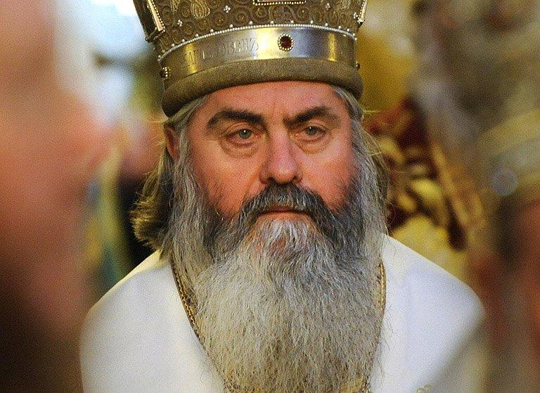 Bishop Kiril, during an orthodox mass in the Alexander Nevski cathedral in Sofia, on January 21, 2012