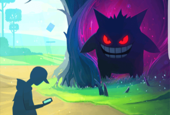 Artwork celebrating the Pokémon Go Halloween event.
