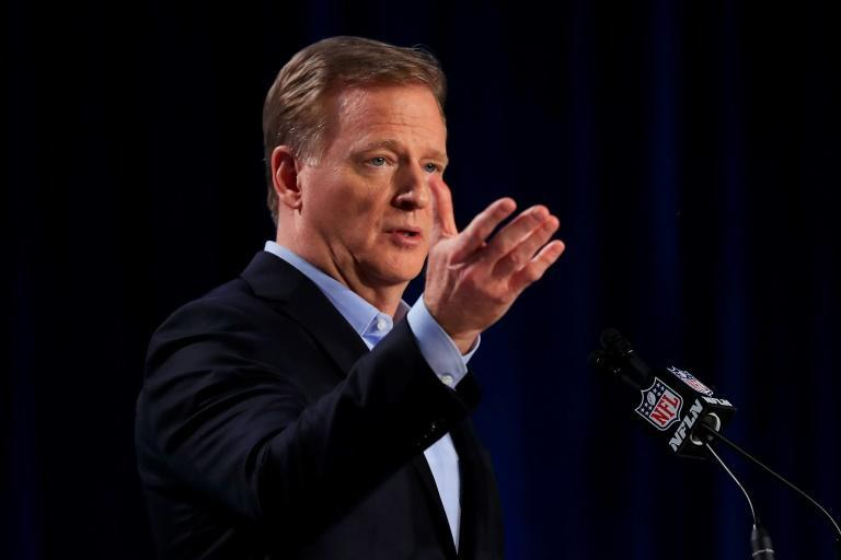 NFL Commissioner Roger Goodell admitted Friday the league had been wrong to silence players who protested against racial injustice (AFP Photo/Cliff Hawkins)
