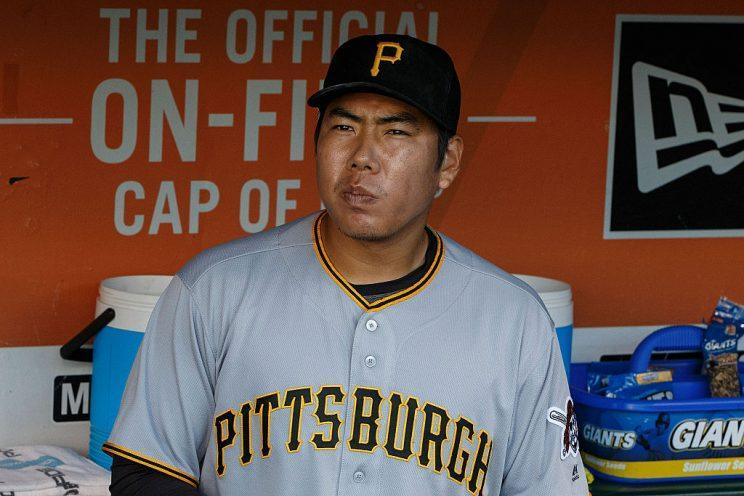 SAN FRANCISCO, CA - AUGUST 16: Jung Ho Kang #27 of the Pittsburgh Pirates stands in the dugout before the game against the San Francisco Giants at AT&T Park on August 16, 2016 in San Francisco, California. The Pittsburgh Pirates defeated the San Francisco Giants 4-3. (Photo by Jason O. Watson/Getty Images)