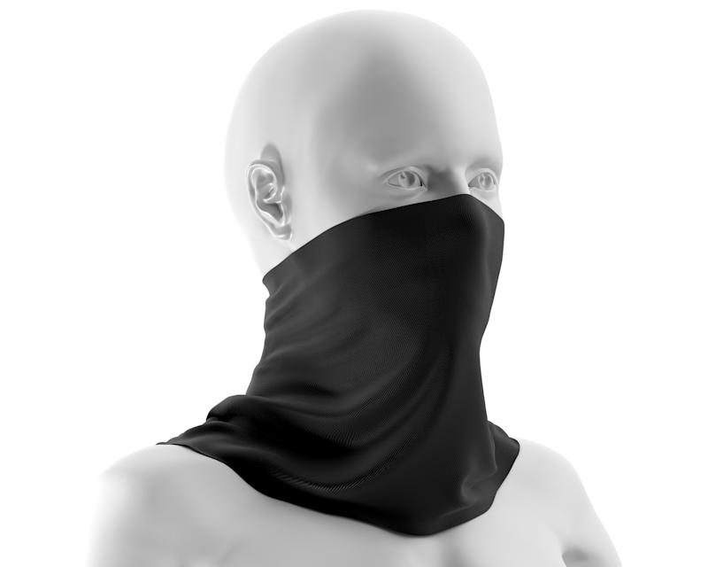 A neck gaiter. (PHOTO: Getty Images)