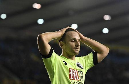 Bournemouth's Marc Pugh looks dejected