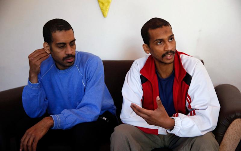 Alexanda Amon Kotey, left, and El Shafee Elsheikh - AP Photo/Hussein Malla