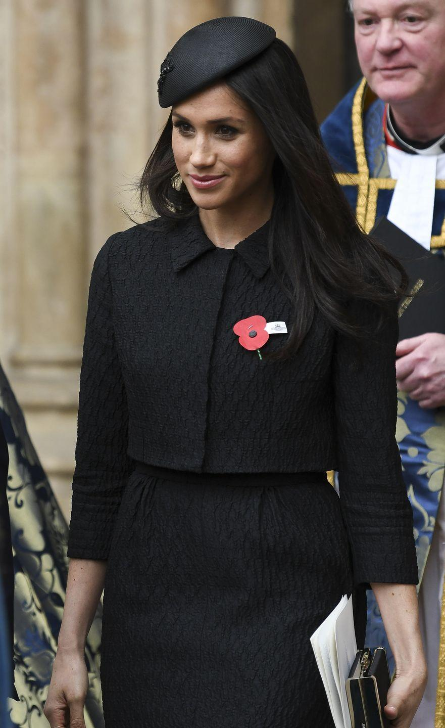 <p>Meghan followed suit with a similar outfit while attending an Anzac Day service in 2018. </p>