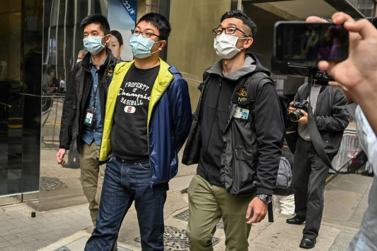 Ben Chung was arrested by police in the Central district of Hong Kong