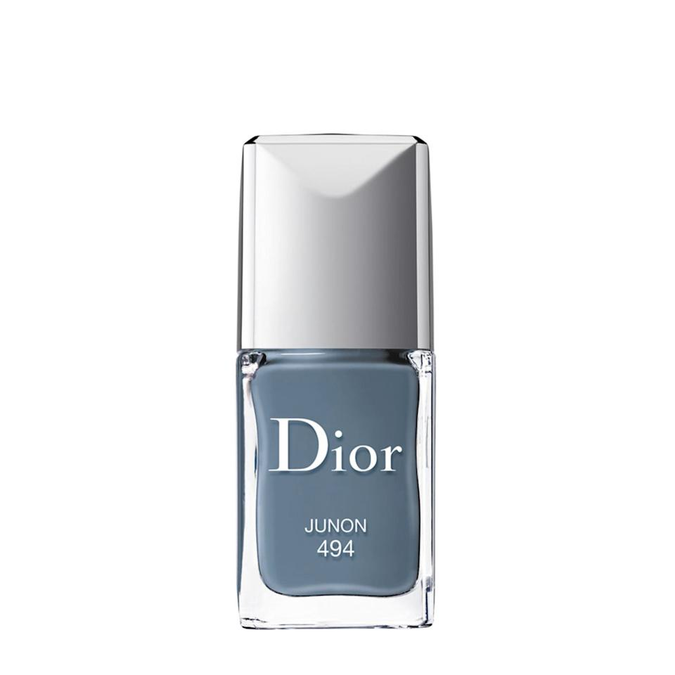 "$28, Dior Vernis in Junon. <a href=""https://www.neimanmarcus.com/p/dior-dior-verniscouture-color-gel-shine-long-wear-nail-lacquer-prod170040208?ecid=NMCS__GooglePLA&utm_source=google_shopping&adpos=1o4&scid=scplpsku151821039&sc_intid=sku151821039&gclid=EAIaIQobChMImua1ou_E5gIVAp6fCh0lqw_-EAQYBCABEgLbs_D_BwE&gclsrc=aw.ds"">Get it now!</a>"