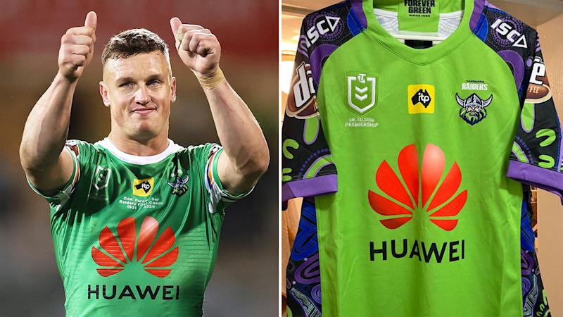 Pictured here, Jack Wighton and Canberra's Indigenous round jersey.