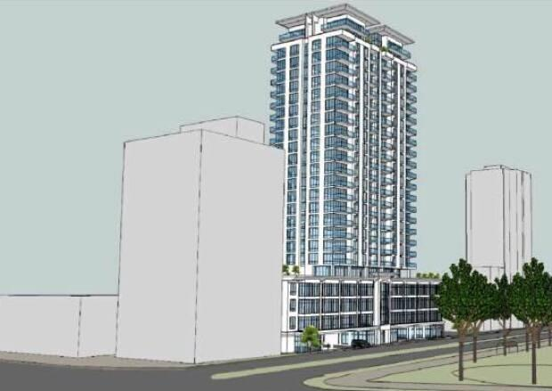 The Robie Street building proposal is shown in this drawing. (Kassner Goodspeed Architects Ltd. - image credit)