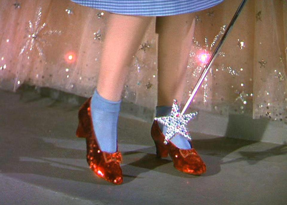 <p>There's no place like home—and there's no shoe as iconic as Dorothy's ruby red slippers.</p>