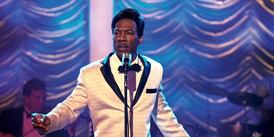 Eddie Murphy won a Golden Globe for his performance in Dreamgirls, 2007 (Credit: Paramount)