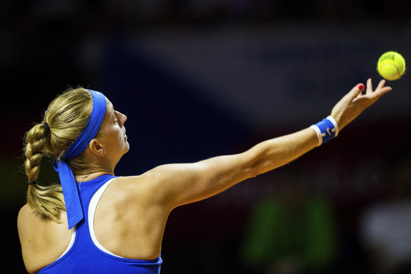 Fed Cup: Kvitova gives Czechs lead over Germany