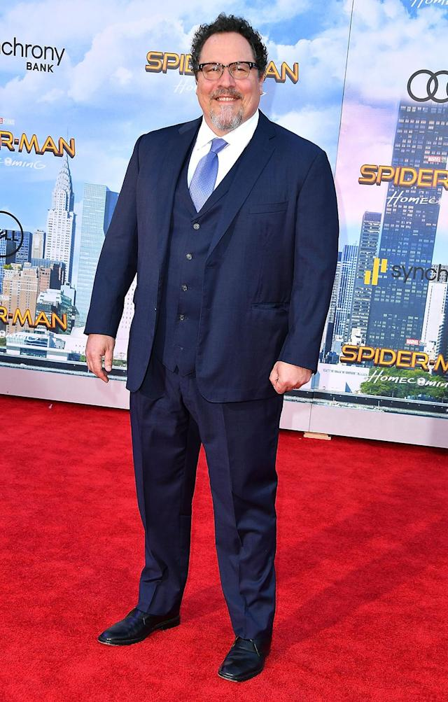 "<p>Happy Hogan gets a little Me Time at the <a href=""https://www.yahoo.com/movies/film/spider-man-homecoming"" data-ylk=""slk:Spider-Man: Homecoming"" class=""link rapid-noclick-resp""><em>Spider-Man: Homecoming</em></a> premiere at TCL Chinese Theatre on June 28, 2017, in Hollywood. (Photo: Steve Granitz/WireImage) </p>"