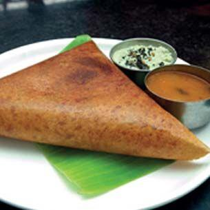 <p><strong>Dosa/ Masala Dosa: </strong>A type of pancake from the Indian subcontinent, made from a fermented batter. It is somewhat similar to a crepe in appearance. </p>