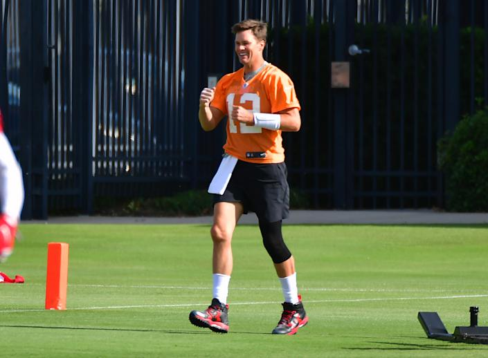 Tom Brady at minicamp with the Bucs.
