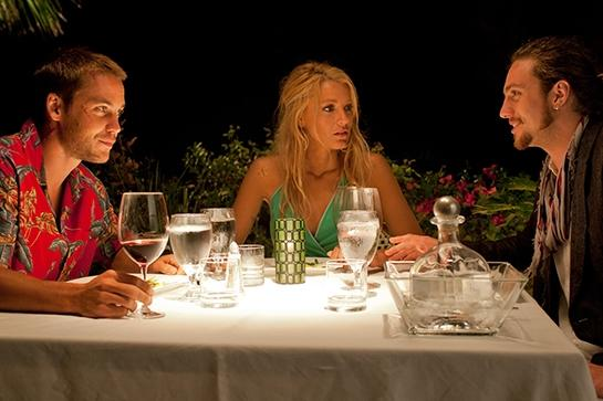 """<em><strong><h3>Savages</h3></strong></em><h3> (2012)<br></h3>Is it hot in here, or is it just the polyamorous relationship between the three beautiful leads? Blake Lively, Taylor Kitsch, and Aaron Taylor-Johnson play marijuana farmers who get tangled up in a Mexican drug cartel — but not before getting tangled up in one another.<br><br><span class=""""copyright"""">Photo: Universal Pictures</span>"""