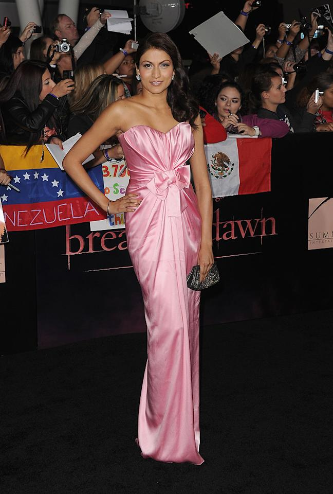 "<a href=""http://movies.yahoo.com/movie/contributor/1809846266"">Tinsel Korey</a> at the Los Angeles premiere of <a href=""http://movies.yahoo.com/movie/1810158314/info"">The Twilight Saga: Breaking Dawn - Part 1</a> on November 14, 2011."