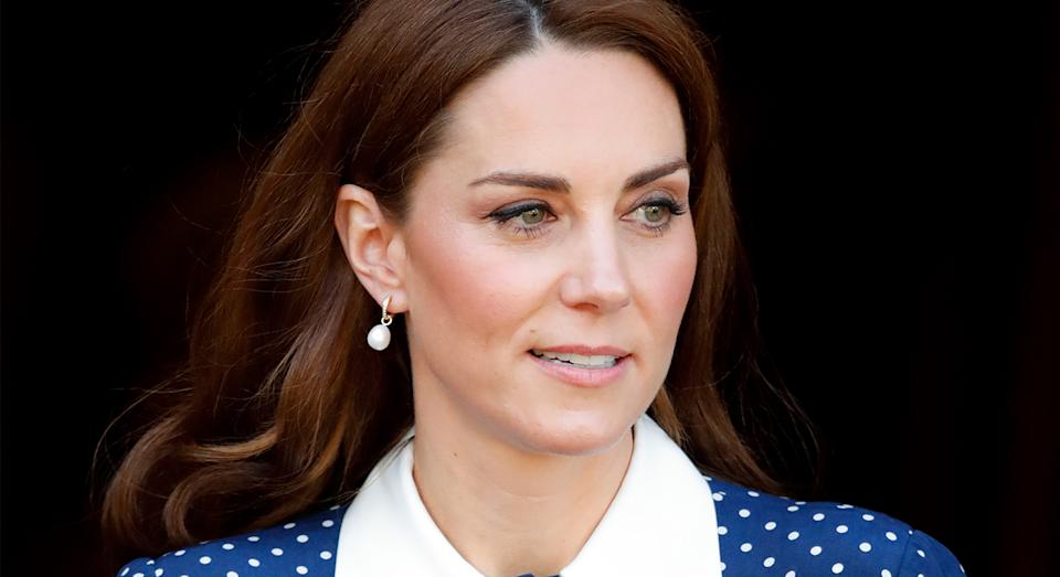 Love the Duchess of Cambridge's Alessandra Rich dress? We've found a more affordable version from L.K.Bennett.  (Getty Images)