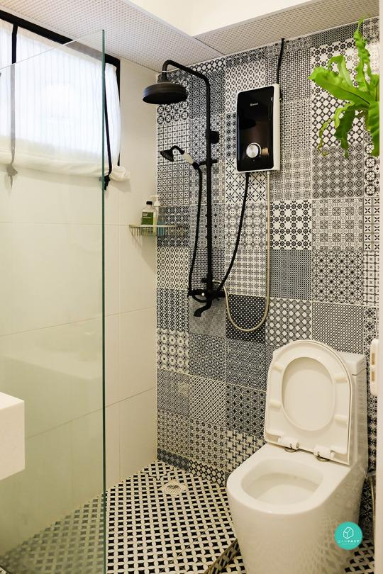 3 Room Hdb Accent Wall: 9 HDB Bathroom Makeovers For Every Budget