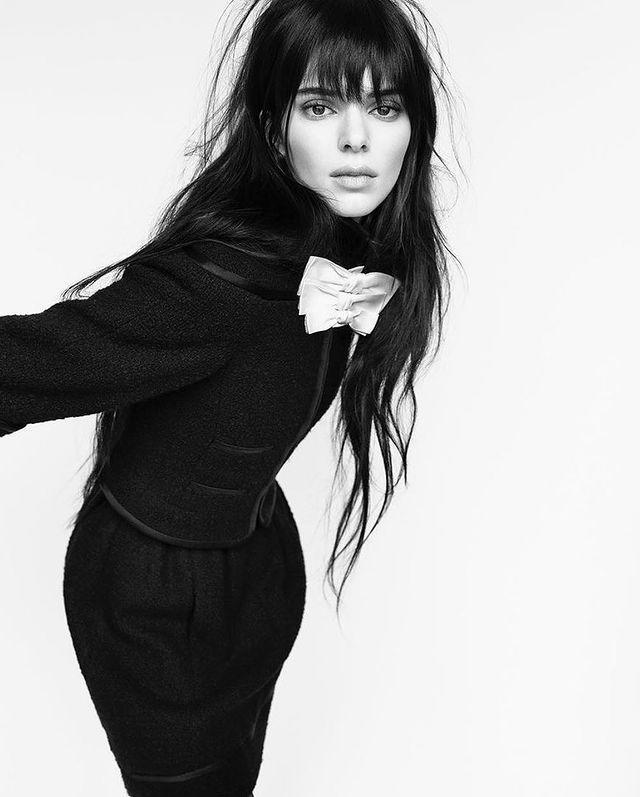 """<p>Switching up her sleek brunette hair, Kendall Jenner rocked a shaggy new fringe for a a <a href=""""https://www.chanel.com/en_GB/fragrance-beauty/makeup.html"""" rel=""""nofollow noopener"""" target=""""_blank"""" data-ylk=""""slk:Chanel"""" class=""""link rapid-noclick-resp"""">Chanel</a> shoot by fashion photography duo <a href=""""https://www.instagram.com/luigiandiango/"""" rel=""""nofollow noopener"""" target=""""_blank"""" data-ylk=""""slk:Luigi and Iango"""" class=""""link rapid-noclick-resp"""">Luigi and Iango</a> published in <a href=""""https://www.instagram.com/chaossixtynine/"""" rel=""""nofollow noopener"""" target=""""_blank"""" data-ylk=""""slk:Chaos SixtyNine magazine"""" class=""""link rapid-noclick-resp"""">Chaos SixtyNine magazine</a>. As always, when it comes to Jenner's major hair transformations, this could just be the work of some seriously good wig trickery, but either way, we're digging the supermodel's badass new bedhead 'do.</p><p><a href=""""https://www.instagram.com/p/CDRS72FjKit/?utm_source=ig_embed&utm_campaign=loading"""" rel=""""nofollow noopener"""" target=""""_blank"""" data-ylk=""""slk:See the original post on Instagram"""" class=""""link rapid-noclick-resp"""">See the original post on Instagram</a></p>"""