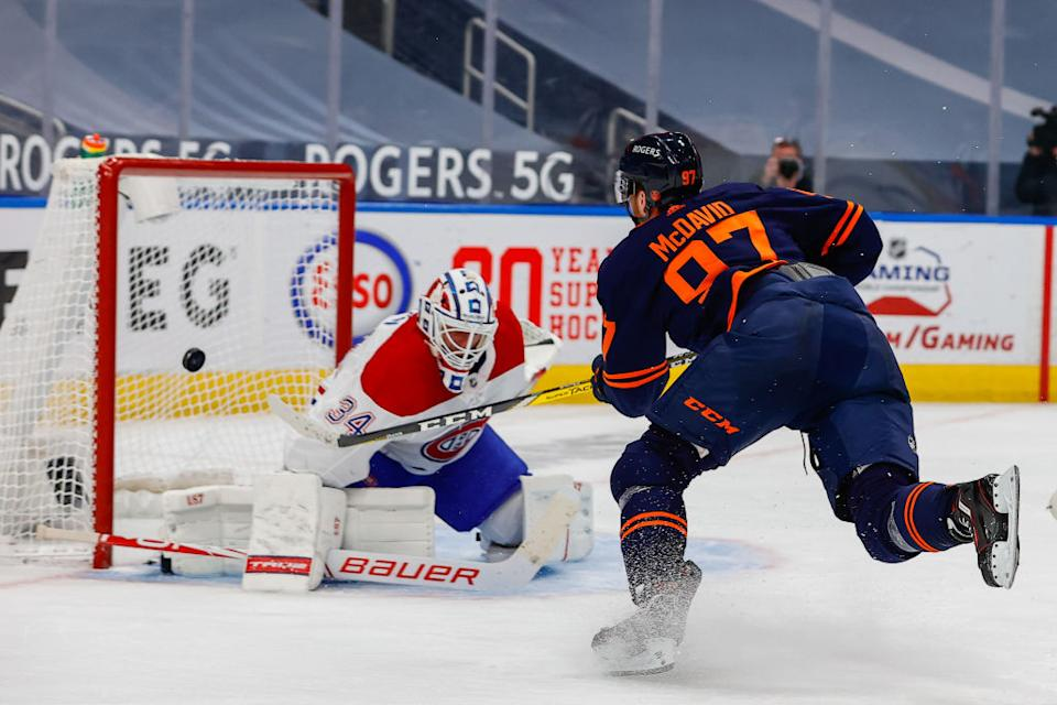Connor McDavid's mind-bending marker versus the Canadiens was one of like 8,000 absurd solo highlights produced by No. 97 this season. (Getty)