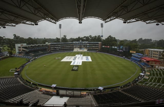 Rain held up the fourth Test (Themba Hadebe/AP)