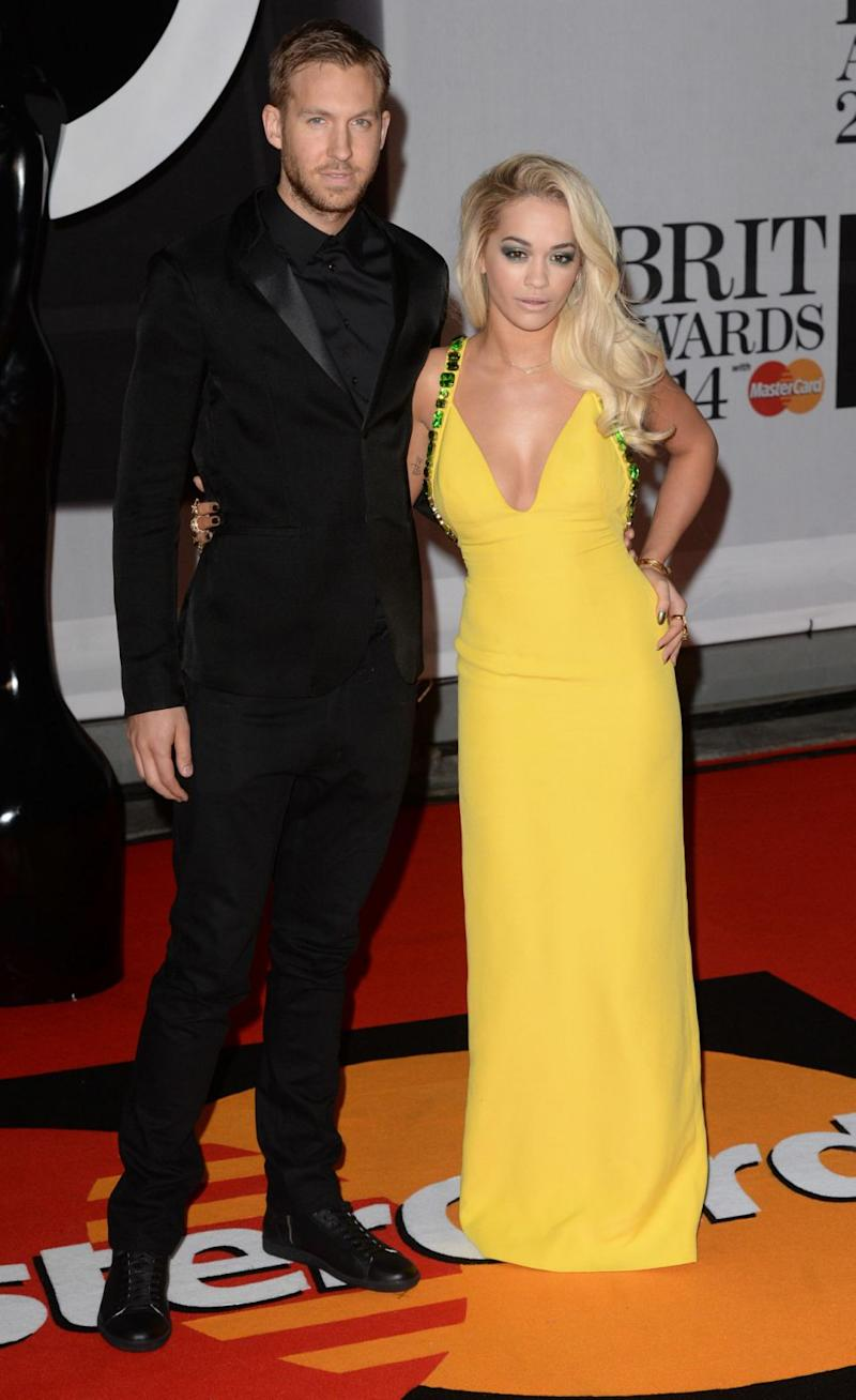 Rita, pictured here with ex Calvin Harris, has revealed she's frozen her eggs to
