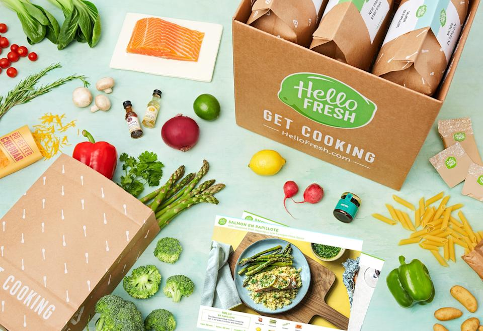 Ah, the luxury of someone else doing the food shopping. (Credit: Hello Fresh)