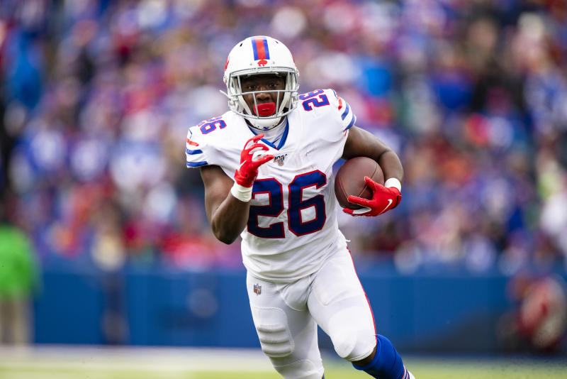 Devin Singletary #26 of the Buffalo Bills