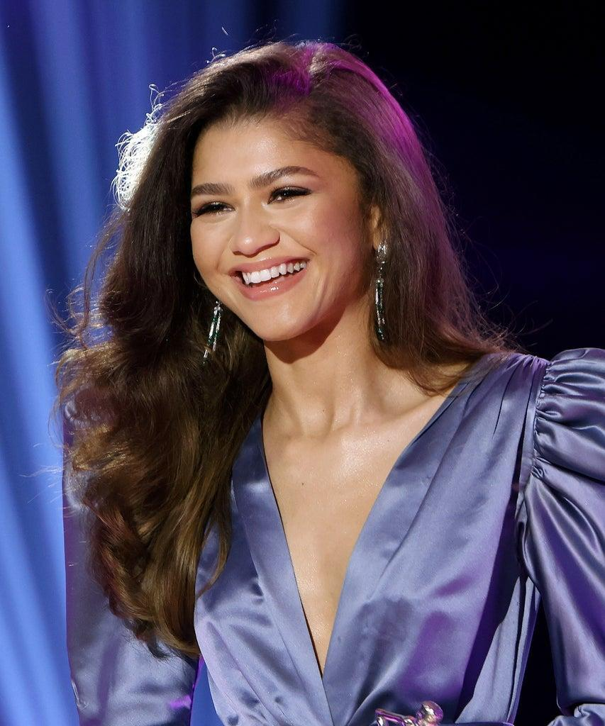 LOS ANGELES, CALIFORNIA – April 22: In this image released on April 22, 2021, Zendaya speaks onstage during ESSENCE Black Women in Hollywood Awards in Los Angeles, California. (Photo by Randy Shropshire/Getty Images for ESSENCE)
