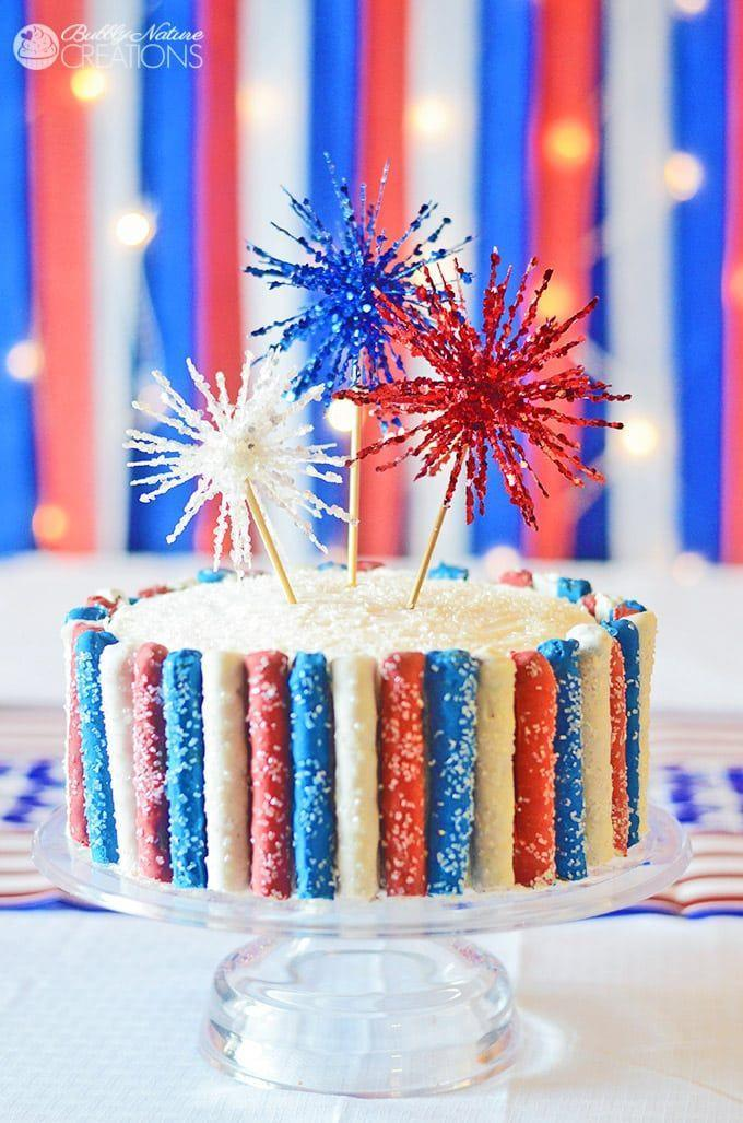 "<p>Bring a little sparkle to your Fourth of July.</p><p>Get the recipe from <a href=""https://sprinklesomefun.com/4th-of-july-sparkler-cake"" rel=""nofollow noopener"" target=""_blank"" data-ylk=""slk:Sprinkle Some Fun"" class=""link rapid-noclick-resp"">Sprinkle Some Fun</a>.</p>"