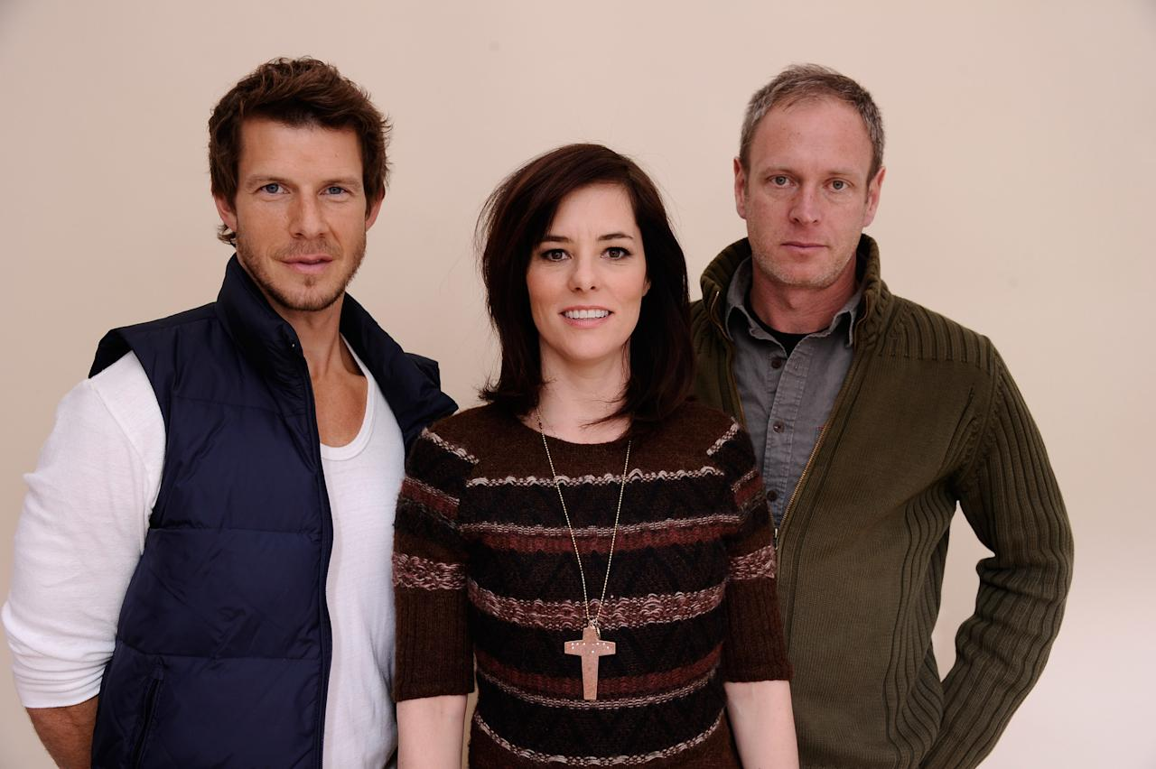 PARK CITY, UT - JANUARY 24:  Actor Eric Mabius, actress Parker Posey and writer/director Michael Walker pose for a portrait during the 2012 Sundance Film Festival at the Getty Images Portrait Studio at T-Mobile Village at the Lift on January 24, 2012 in Park City, Utah.  (Photo by Larry Busacca/Getty Images)
